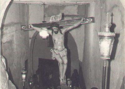 Cristo de las penas bajo la torremocha en 1972