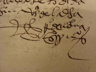 Firma escrito antiguo