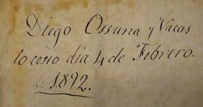 Detalle de escrito antiguo